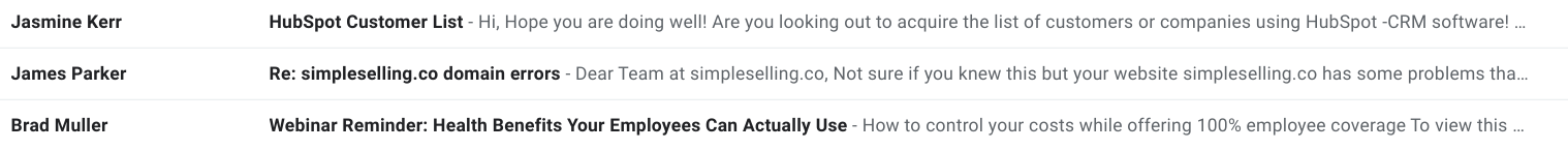 bad sales email examples