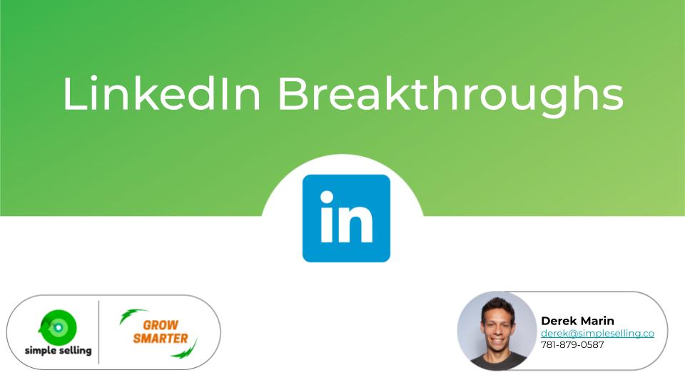 The Peer Share Post [LinkedIn Breakthroughs]